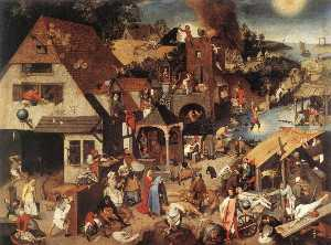 Pieter Bruegel The Younge.. - 荷兰谚语
