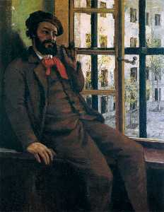 Gustave Courbet - Self-Portrait 在 Sainte-Pé..
