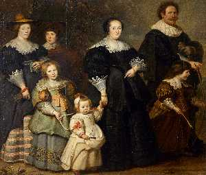 Cornelis De Vos - Self-Portrait  的 艺术家用 他的妻..