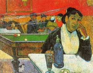 Paul Gauguin -  夜  咖啡馆 在 阿尔勒 ( 夫人 Ginoux..