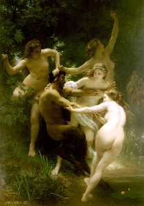 William Adolphe Bouguerea.. - Nymphes 等 satyre ( 也被称为 若..