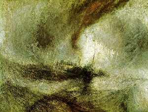 William Turner - 显示风暴 - Seam-Boat 掉了 Harbo..