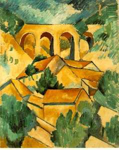 Georges Braque - 高架桥 在  L_Estaque