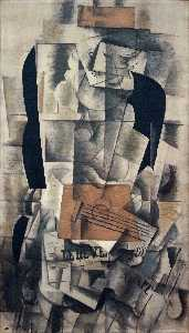 Georges Braque - 女性  与 a  吉他