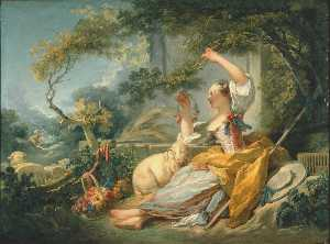 Jean-Honoré Fragonard - 牧羊女