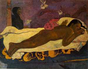 Paul Gauguin - 看死人的精神 , 阿尔布