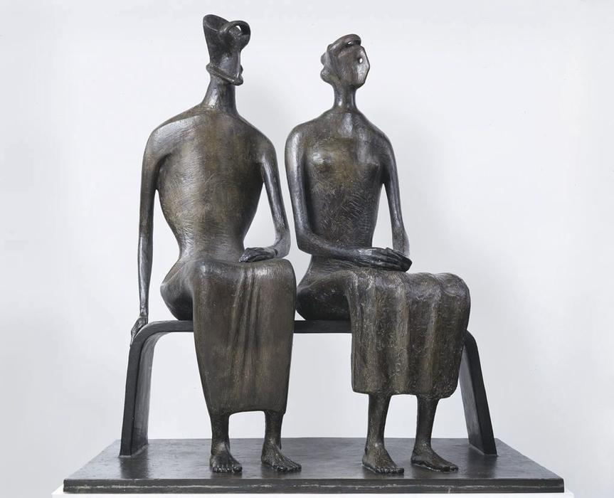 国王  和 女王 通过 Henry Moore (1898-1986, United Kingdom) | 傑作拷貝 | ArtsDot.com