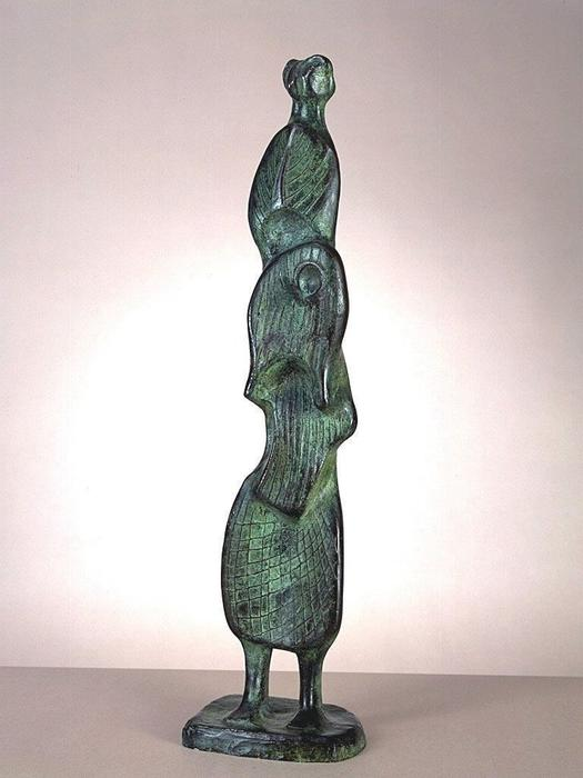 叶图4号, 雕塑 通过 Henry Moore (1898-1986, United Kingdom)