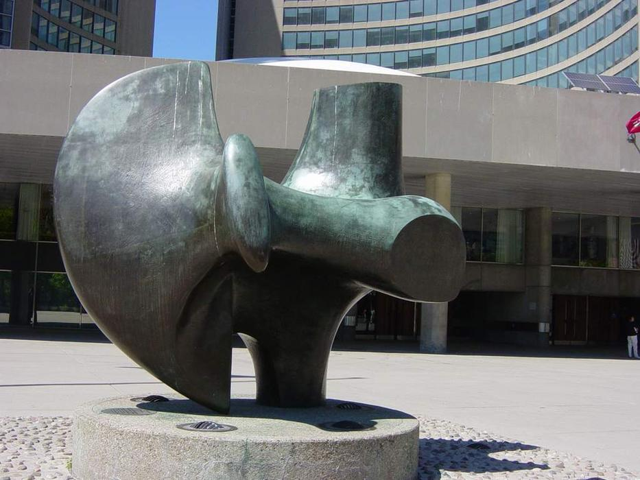三 方法  作品   没有  2   的  弓箭手 , 雕塑 通过 Henry Moore (1898-1986, United Kingdom)