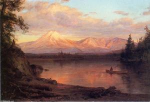 Frederic Edwin Church - 查看卡塔丁山的