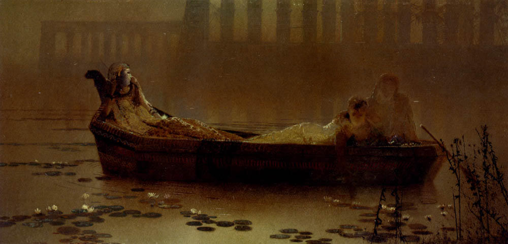 莲花采集, 1874 通过 John Atkinson Grimshaw (1836-1893, United Kingdom) | 畫再現 | ArtsDot.com
