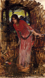 John William Waterhouse - 研究的 女士  的  葱