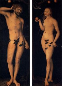Lucas Cranach The Elder - 亚当和夏娃