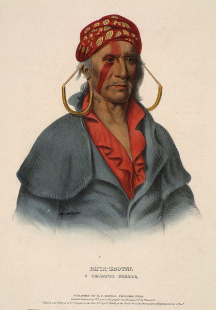 Payta-Kootha,A Shawanoe战士, 油 通过 Charles Bird King (1785-1862, United States)