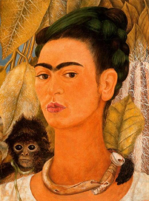 Autorretrato 精读 单 通过 Frida Kahlo (1907-1954, Mexico)