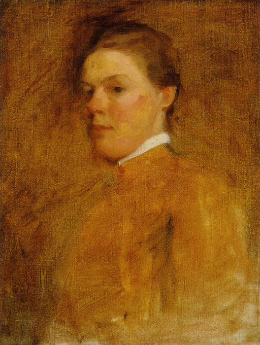 """自画像, 油 通过 Cecilia Beaux (1855-1942, United States)"