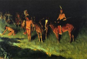 Frederic Remington -  的 草 失火