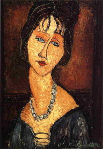 Amedeo Modigliani - 珍妮Hebuterne项链