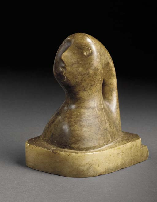 头 1  , 雕刻 通过 Henry Moore (1898-1986, United Kingdom)