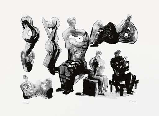 想法雕塑3 通过 Henry Moore (1898-1986, United Kingdom) | 幀打印 | ArtsDot.com