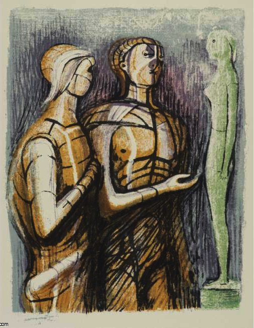PROMETHEE 通过 Henry Moore (1898-1986, United Kingdom) | 幀打印 | ArtsDot.com