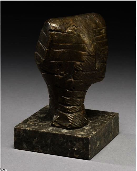 小头;阶层, 油 通过 Henry Moore (1898-1986, United Kingdom)