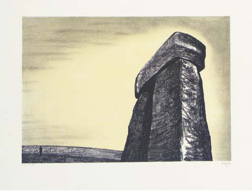 巨石阵, 雕刻 通过 Henry Moore (1898-1986, United Kingdom)
