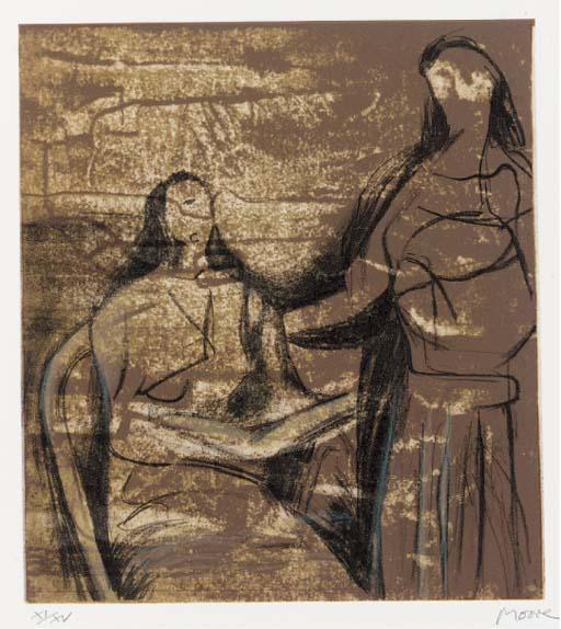 探视, 油 通过 Henry Moore (1898-1986, United Kingdom)