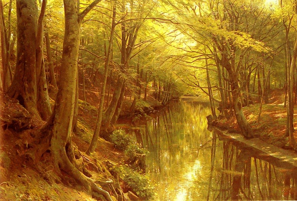 林地流, 油 通过 Peder Mork Monsted (1859-1941, Denmark)