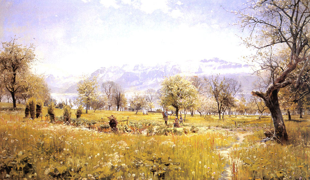 由  湖 通过 Peder Mork Monsted (1859-1941, Denmark) | 畫再現 | ArtsDot.com