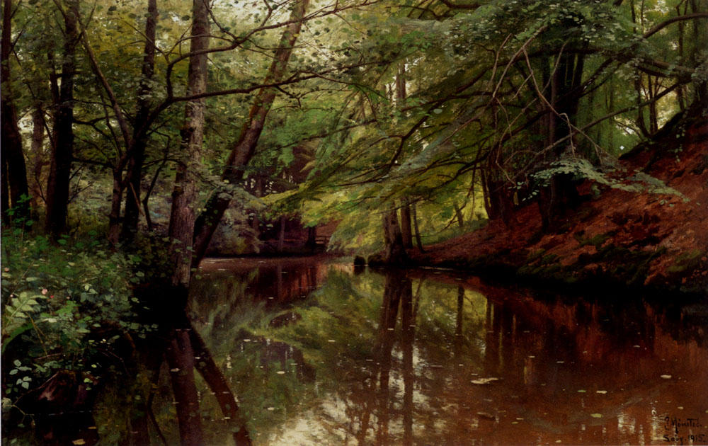 夏季,Sæby旅馆 通过 Peder Mork Monsted (1859-1941, Denmark) | 畫再現 | ArtsDot.com
