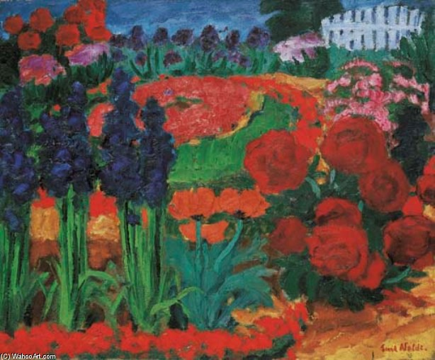Flowergarden 通过 Emile Nolde (1867-1956, Germany)