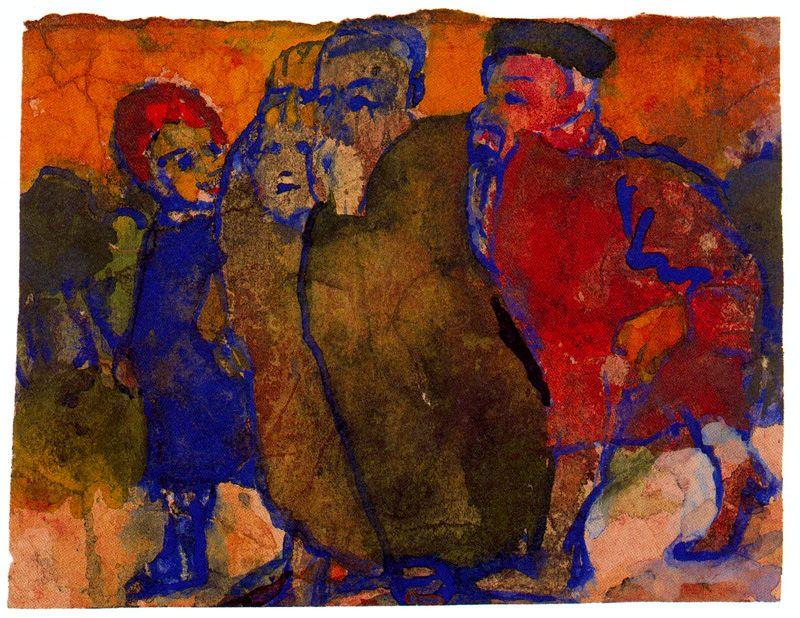 组 人民 通过 Emile Nolde (1867-1956, Germany)