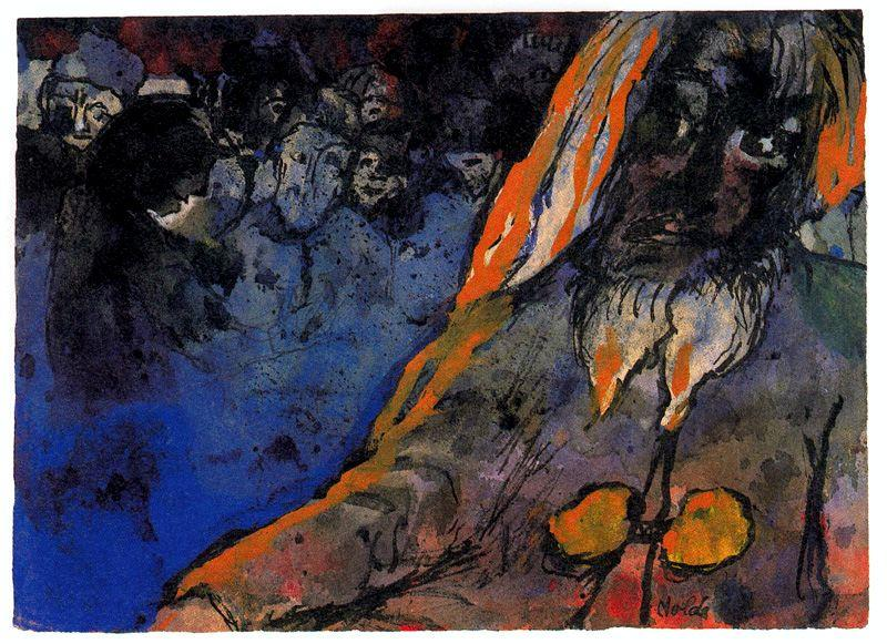 山 巨人 通过 Emile Nolde (1867-1956, Germany)