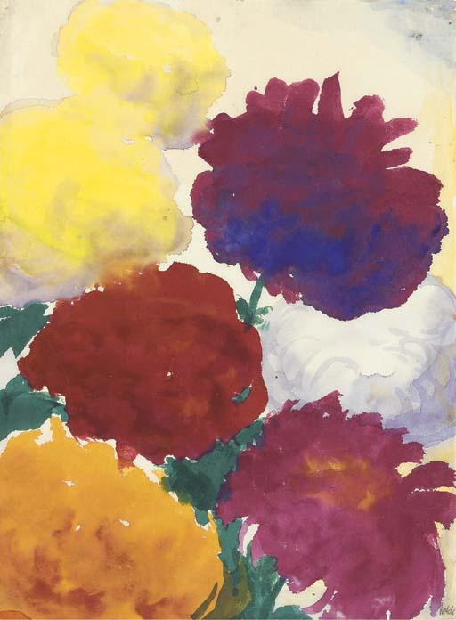 牡丹 通过 Emile Nolde (1867-1956, Germany)