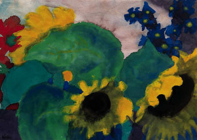 向日葵 3 通过 Emile Nolde (1867-1956, Germany) | 幀畫冊專輯 | ArtsDot.com