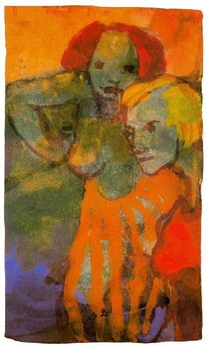 两 妇女 通过 Emile Nolde (1867-1956, Germany)