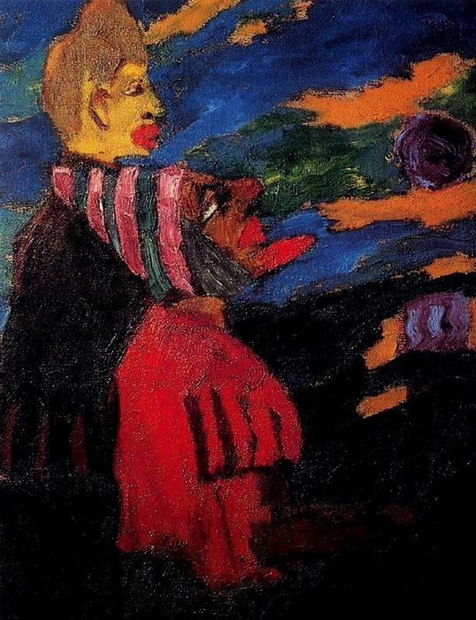流浪者之歌 通过 Emile Nolde (1867-1956, Germany)