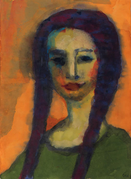 幼女 通过 Emile Nolde (1867-1956, Germany)
