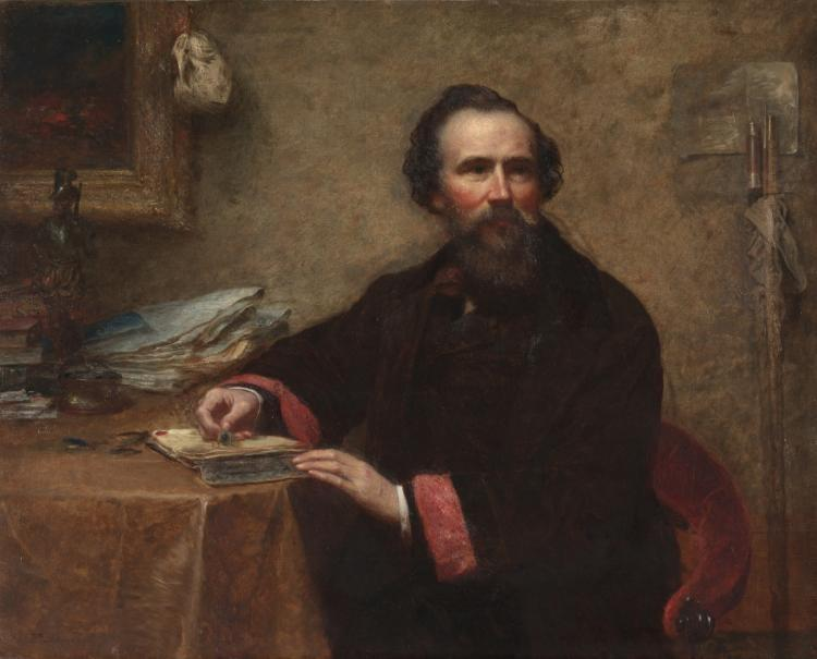 肖像杰尼奥C.斯科特 通过 Jonathan Eastman Johnson (1824-1906, United Kingdom) | ArtsDot.com