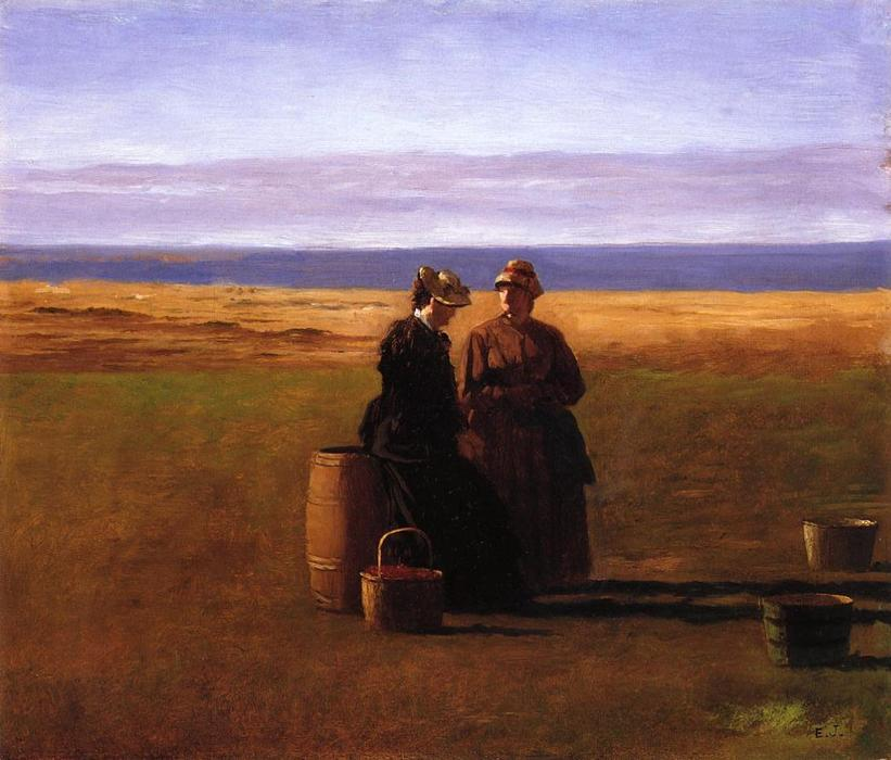 的  对话 通过 Jonathan Eastman Johnson (1824-1906, United Kingdom)