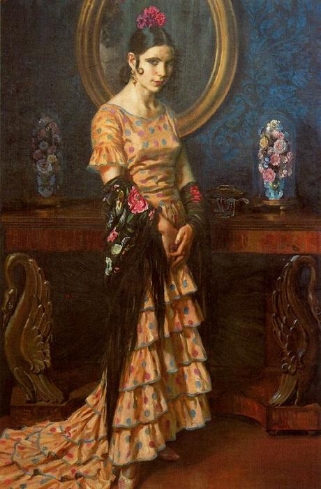 安达卢西亚缪斯 通过 Jorge Apperley (George Owen Wynne Apperley) (1884-1960, United Kingdom) | ArtsDot.com