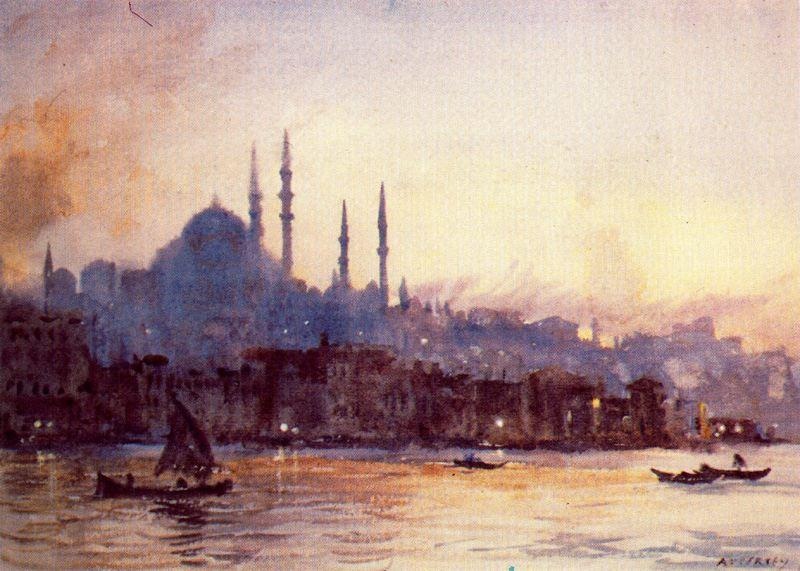 Istambul 通过 Jorge Apperley (George Owen Wynne Apperley) (1884-1960, United Kingdom)