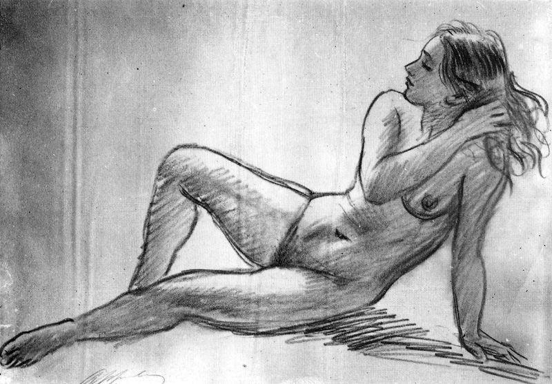 裸体 3 通过 Jorge Apperley (George Owen Wynne Apperley) (1884-1960, United Kingdom) | ArtsDot.com