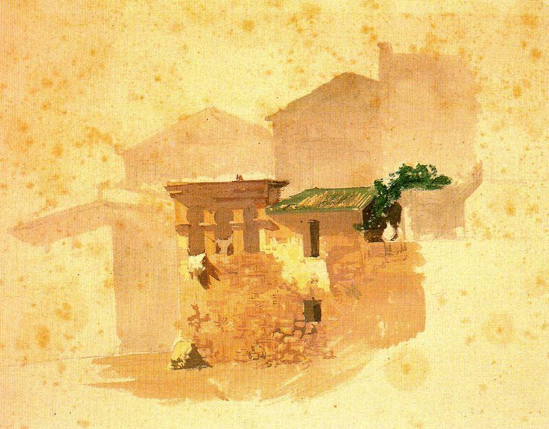建筑物 通过 Mariano Fortuny (1871-1949, Spain)