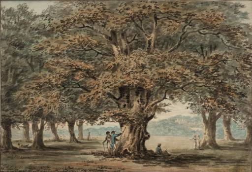 温莎公园 通过 Paul Sandby (1798-1863, United Kingdom)