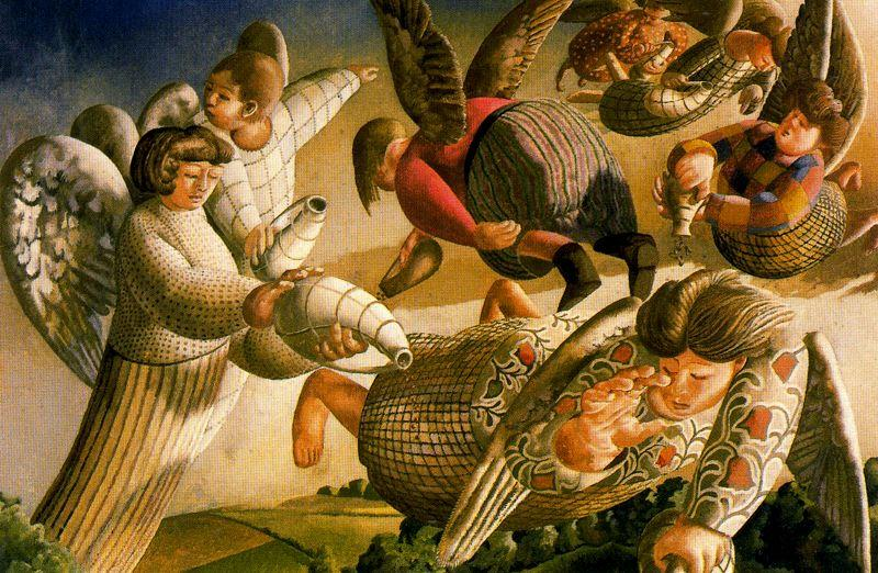 末日天使 通过 Stanley Spencer (1891-1959, United Kingdom)