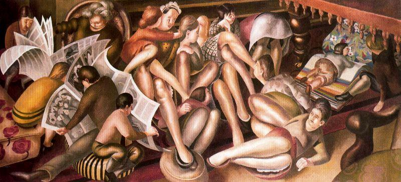 伴娘在迦南 通过 Stanley Spencer (1891-1959, United Kingdom)