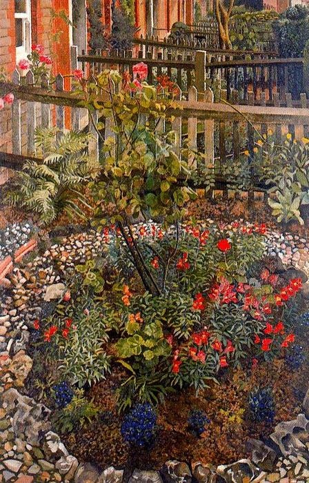 的Cookham崛起。别墅 通过 Stanley Spencer (1891-1959, United Kingdom)