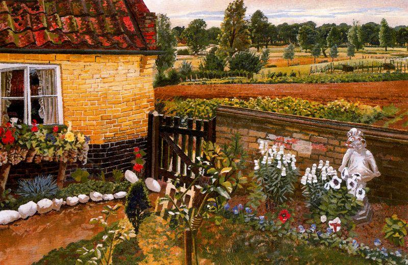平房在Wangford 通过 Stanley Spencer (1891-1959, United Kingdom)